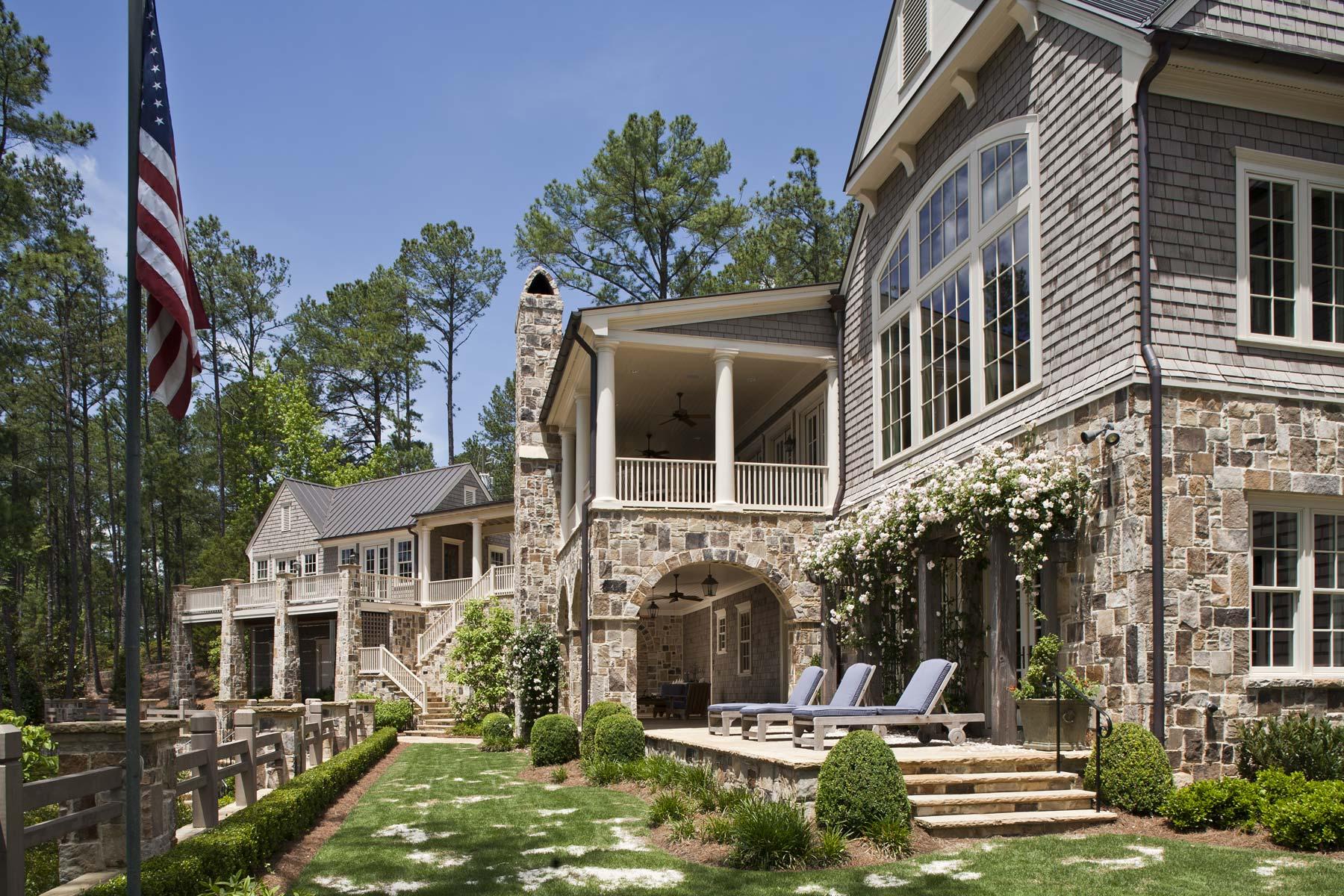 South Carolina Lake House Rear Exterior