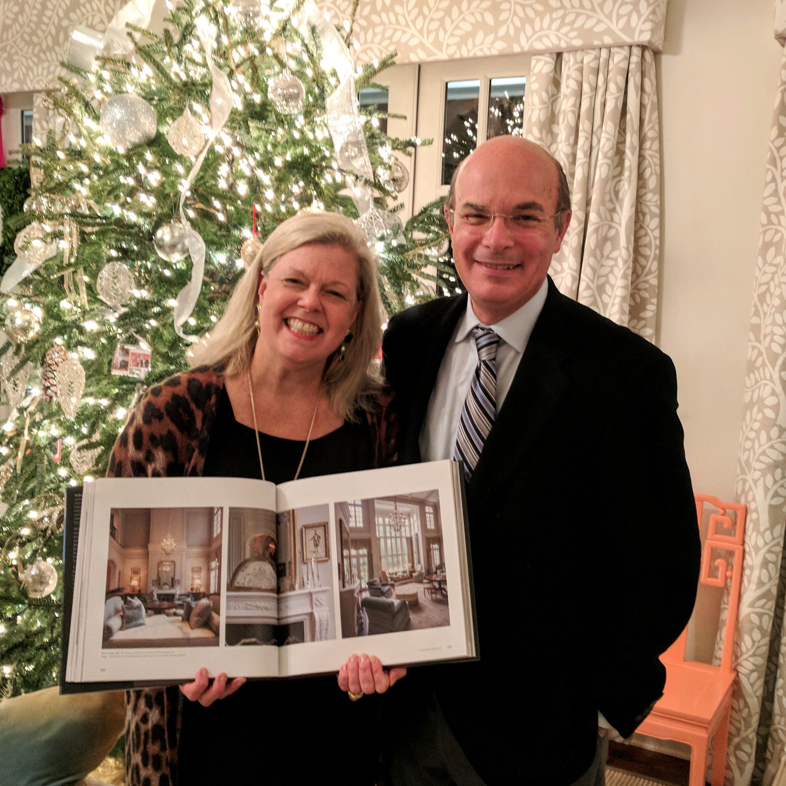 Patricia McLean of McLean Interiors with William T. Baker