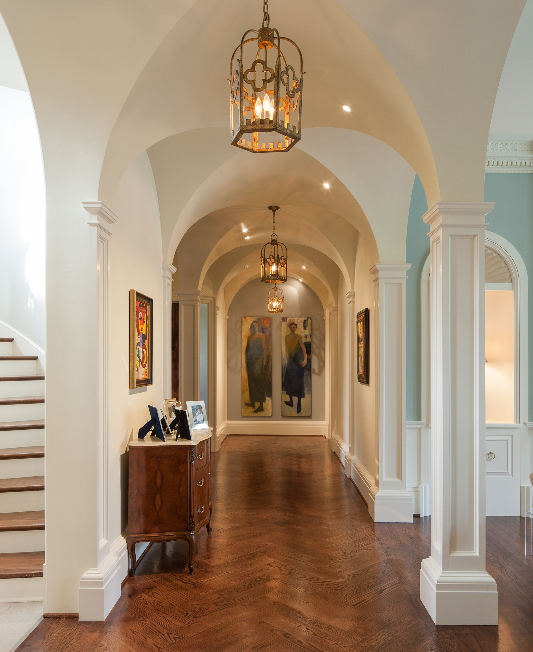 Hallway Entrance - Johnson House Art Collection, William T. Baker
