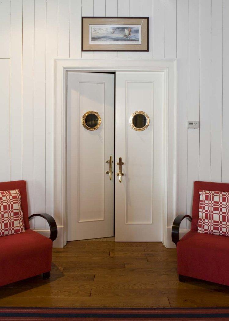 Interior Doors, South Carolina Lake House   William T. Baker