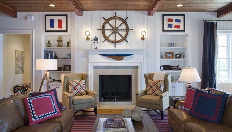 Family Room, South Carolina Lake House   William T. Baker