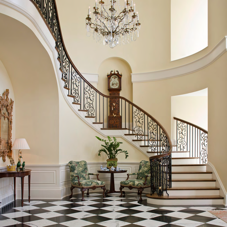 Curved Stair, Louisville Estate | William T. Baker
