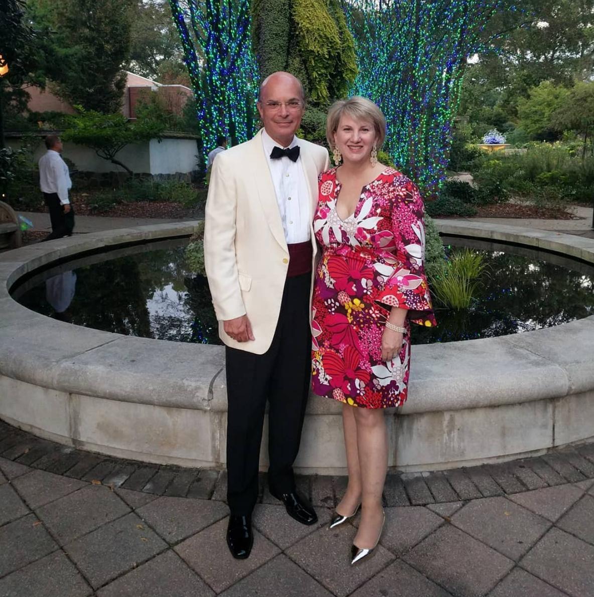 William T. Baker and wife Carolyn, Atlanta Botanical Gardens
