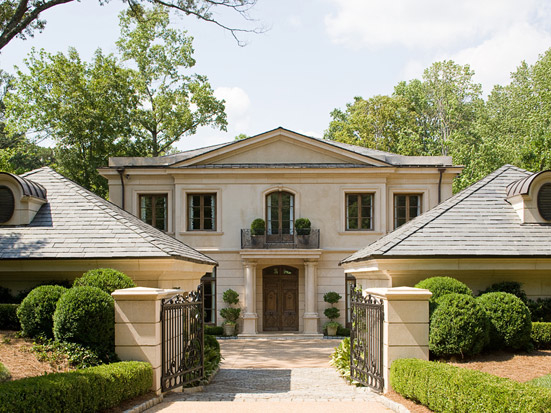 French Courtyard House, Southern Style & Classic Architecture   William T. Baker