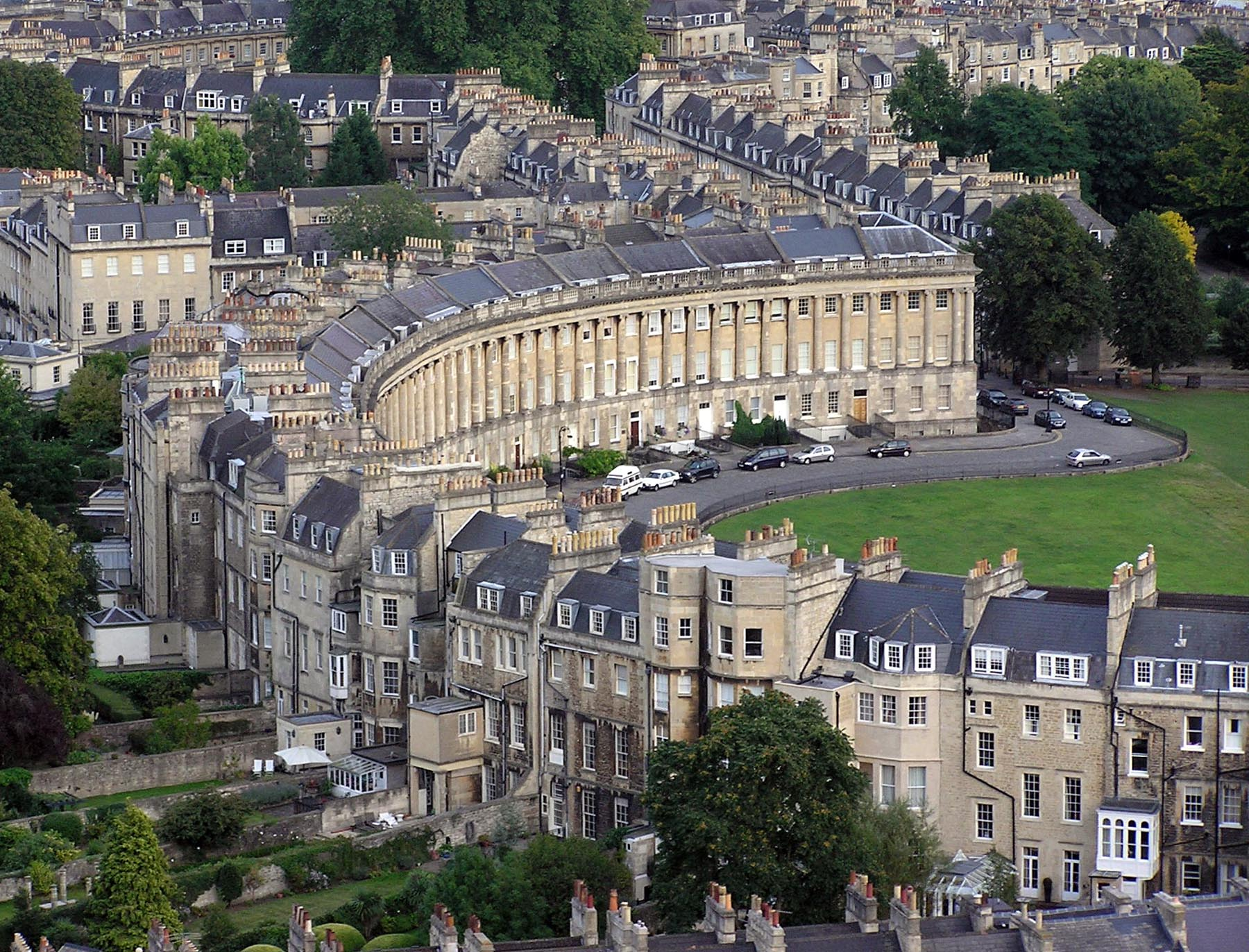 Aerial View of Royal Crescent Hotel, Bath, England | William T. Baker