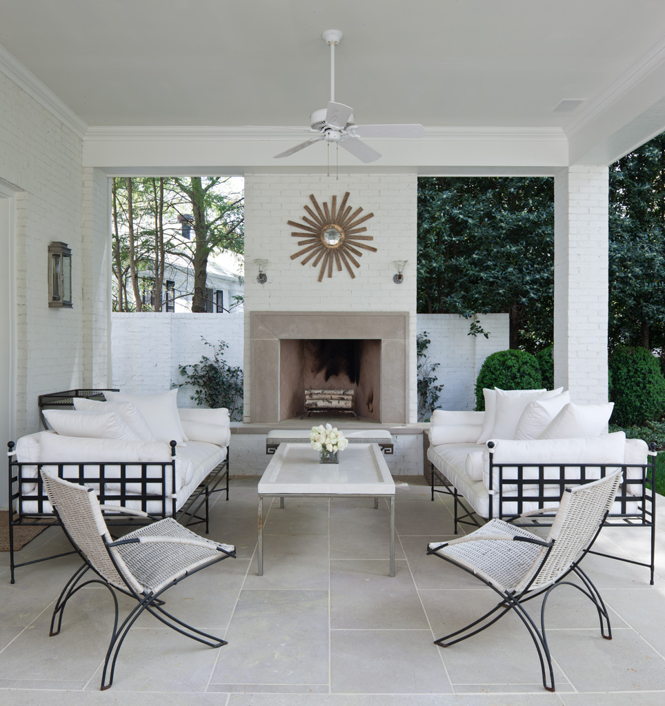 A picture perfect outdoor living area with just the right balance of glamour and relaxed elegance.