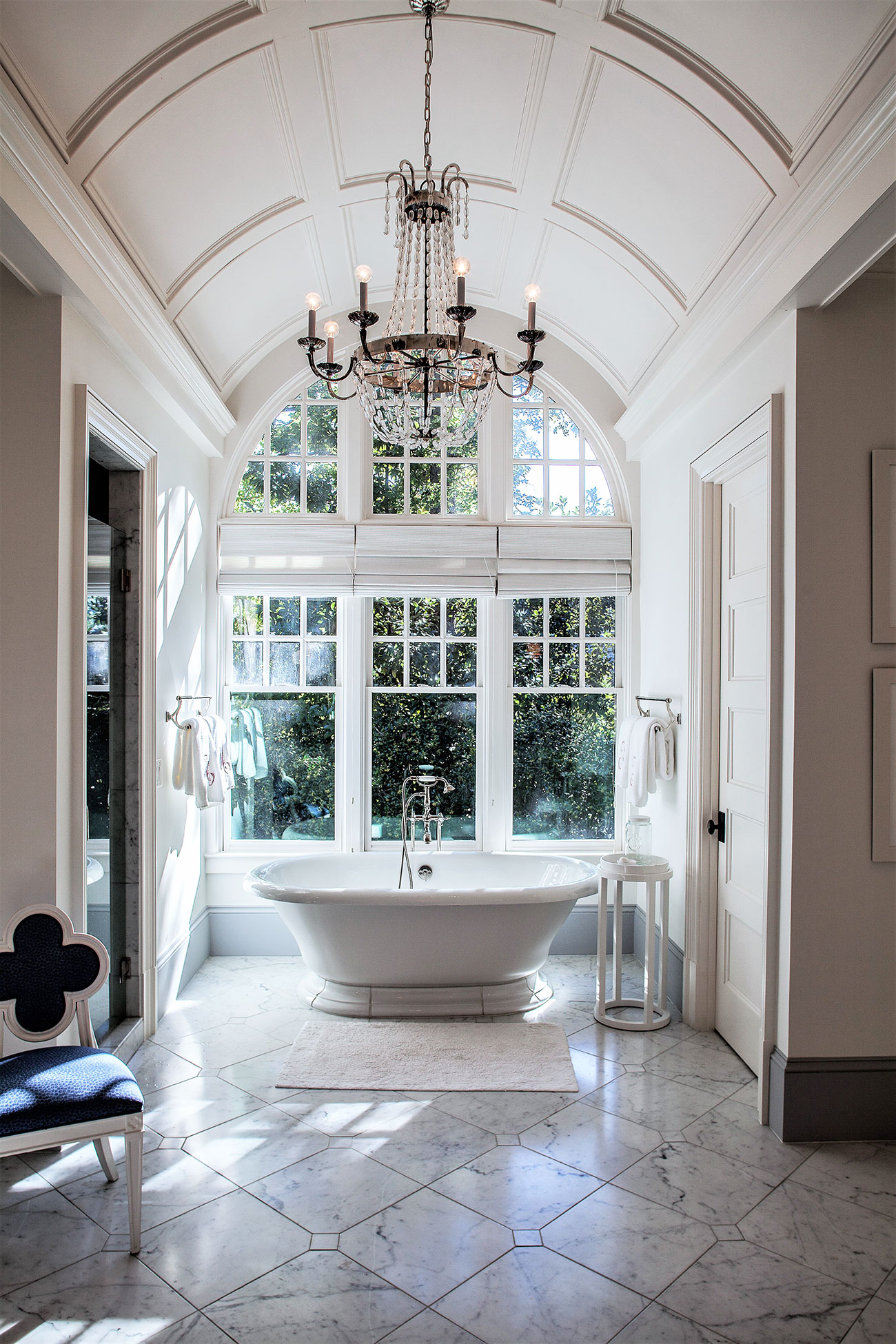 This spa-like master bath is a welcome amenity any day of the week.