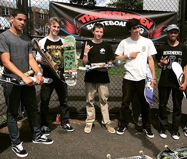 In June of 2017 I placed 5th in the Philly Am skateboarding competition at the Ambler skatepark