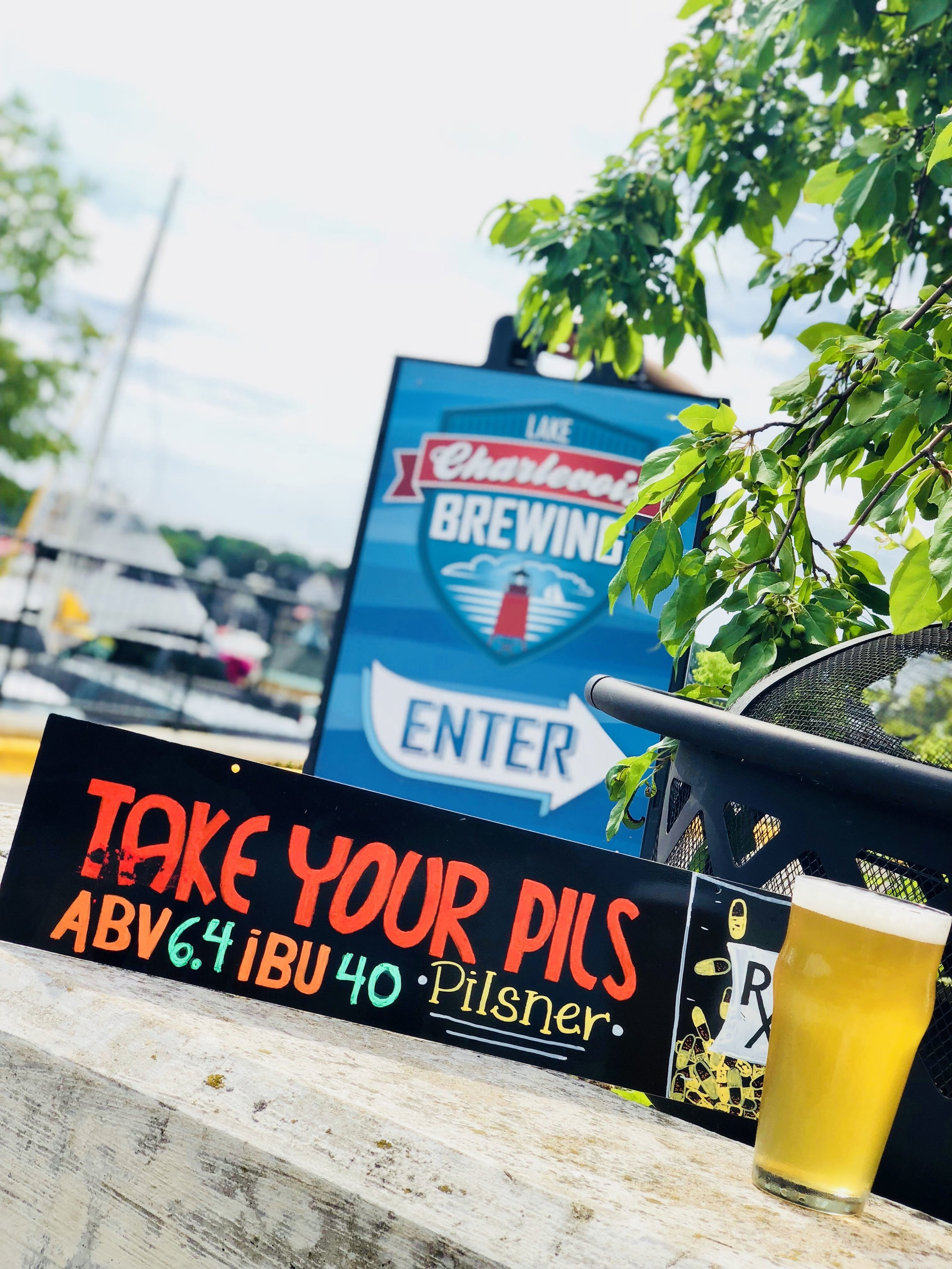 TAKE YOUR PILS, GERMAN PILSNER: 6.4% ABV - 40 IBU   Just as the doctor ordered, our lovely pilsen malt lager is back and ready to kick your summer relaxation into high gear. Take only as perscribed.