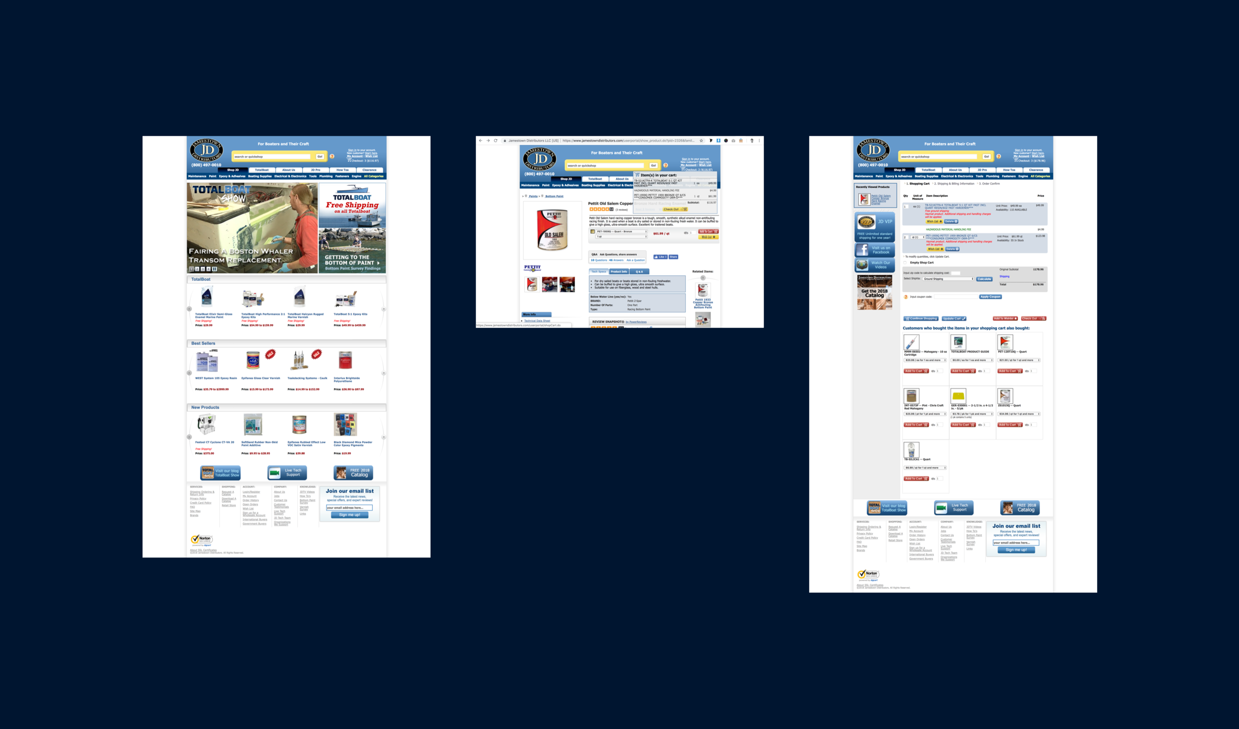 The site before redesign