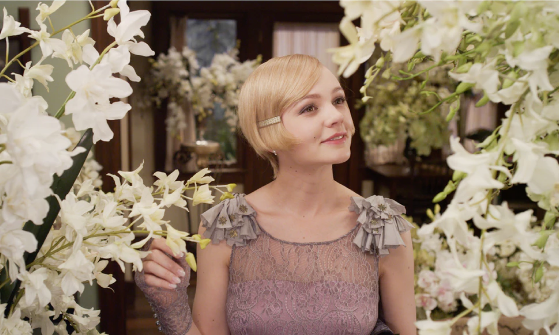 Carey Mulligan as Daisy Buchanan in Great Gatsby, styled by Catherine Martin