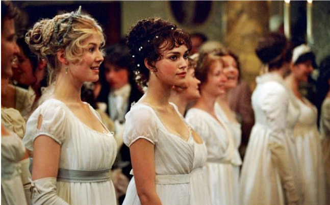 Image of Pride & Prejudice starring Keira Knightley as Elizabeth Bennet from  IMDb