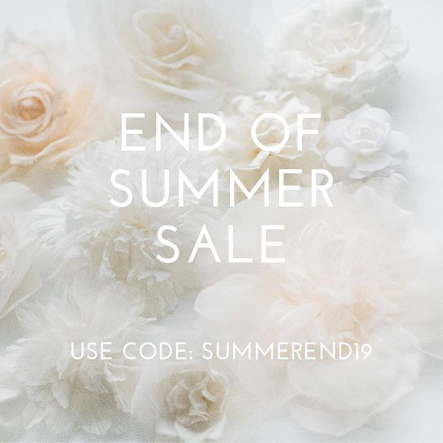 Say farewell to summer and shop shirleyandaudrey.com for 20% off any purchase with code summerend19.