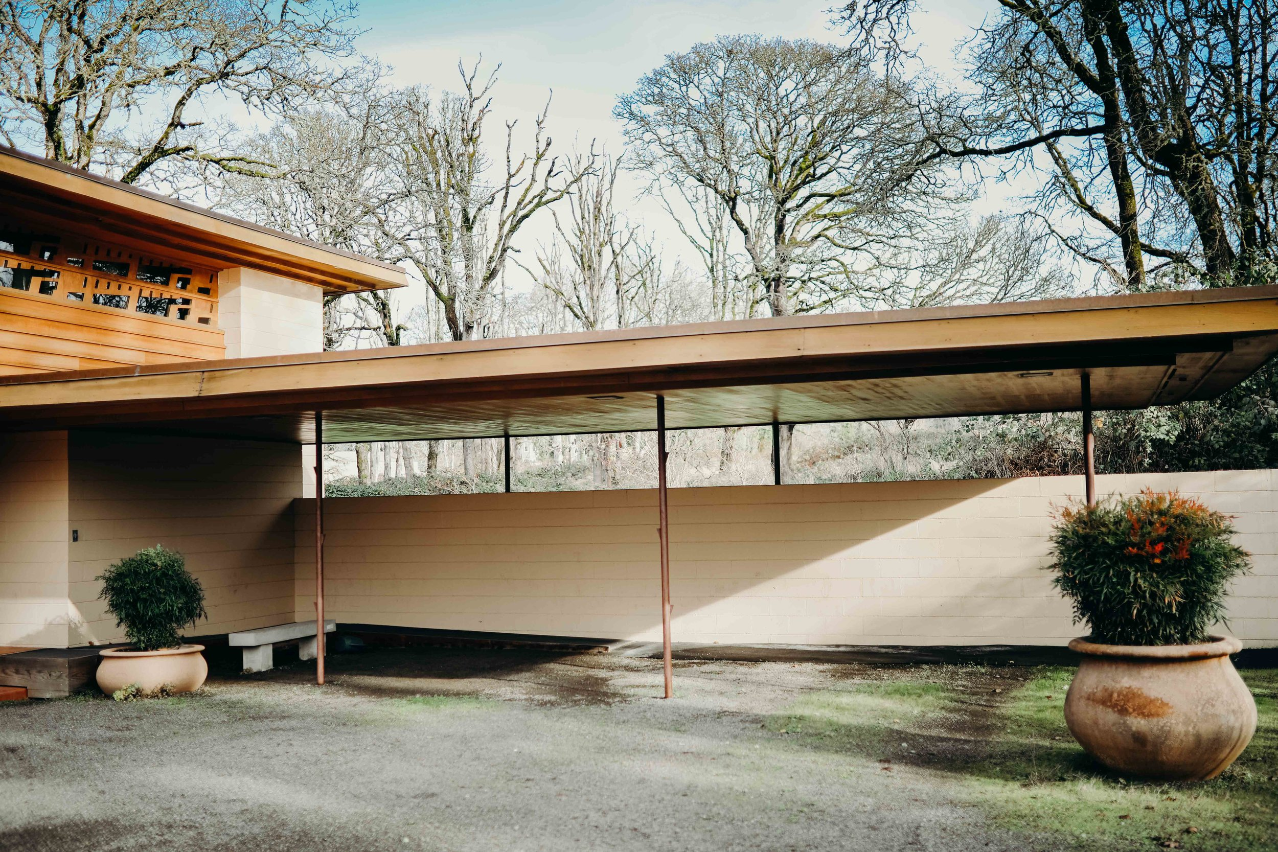 Who knew that FLW invented the carport?