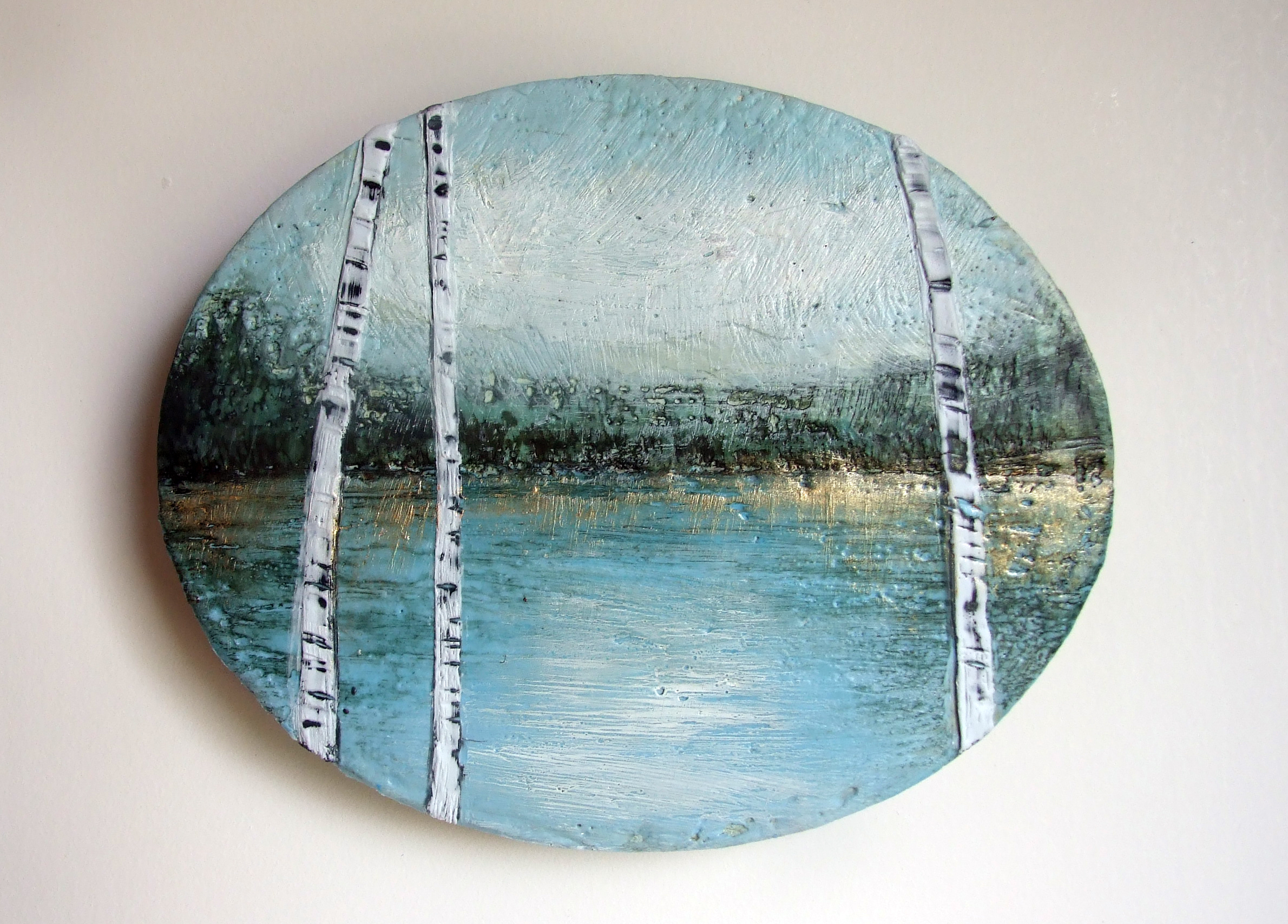 Homage to the lake (Oval)  SOLD