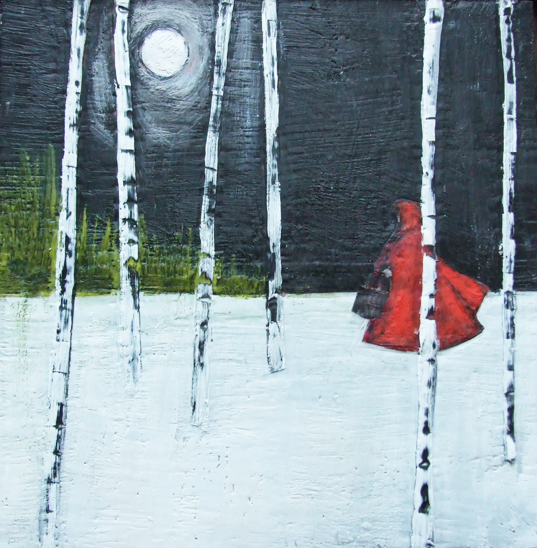 """The visitor 12""""x12""""  SOLD"""
