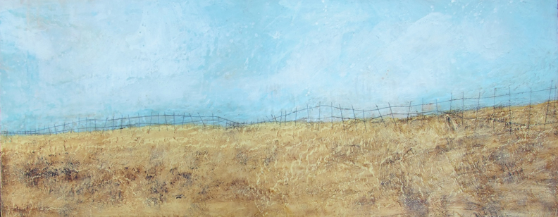 The Gift of Gold 60x24 2011 encaustic painting by Susan Wallis