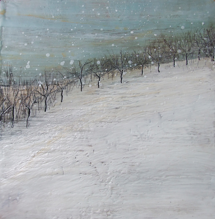 Winter in Waupoos I encaustic art by Susan Wallis