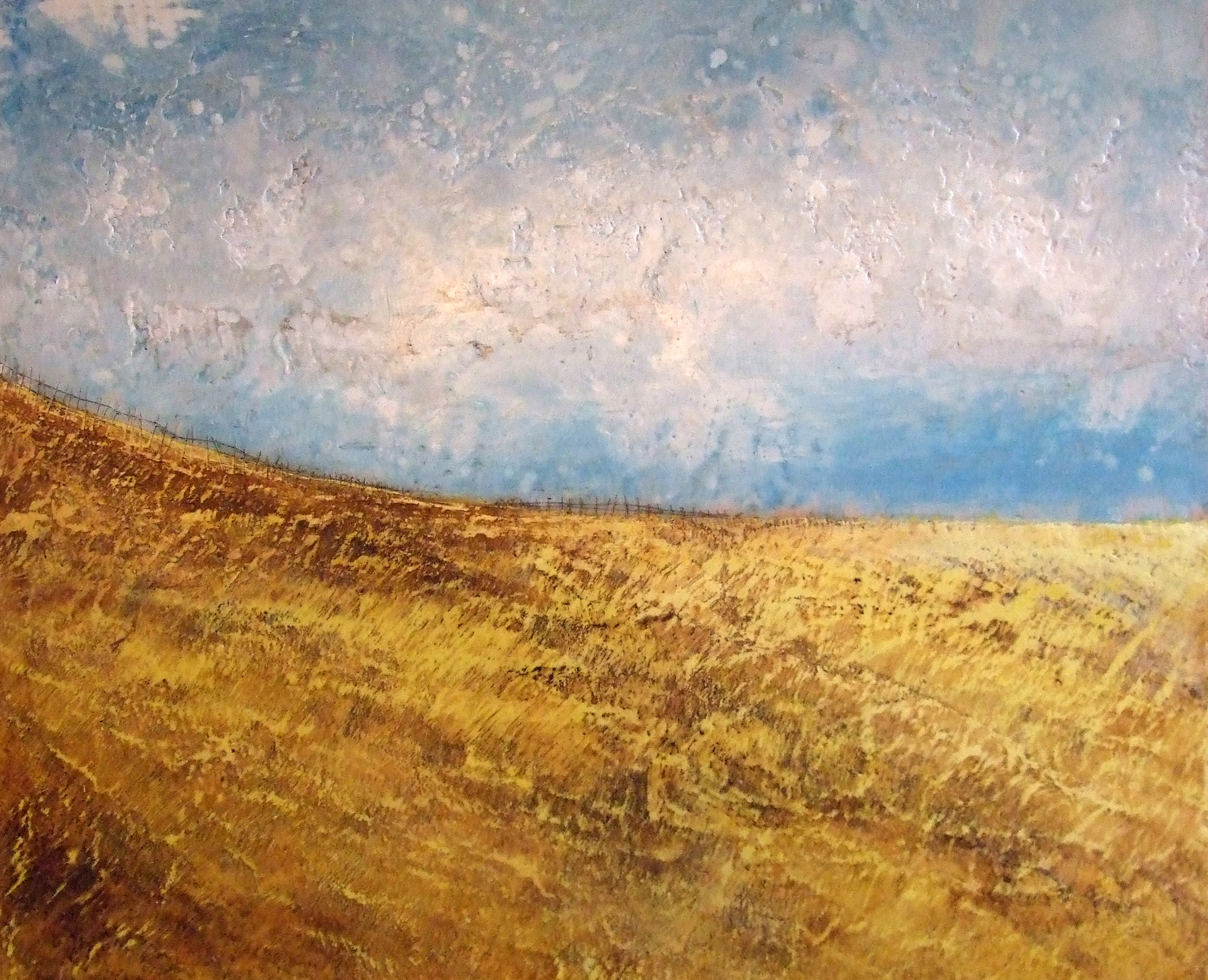 October Fields encaustic art Susan Wallis
