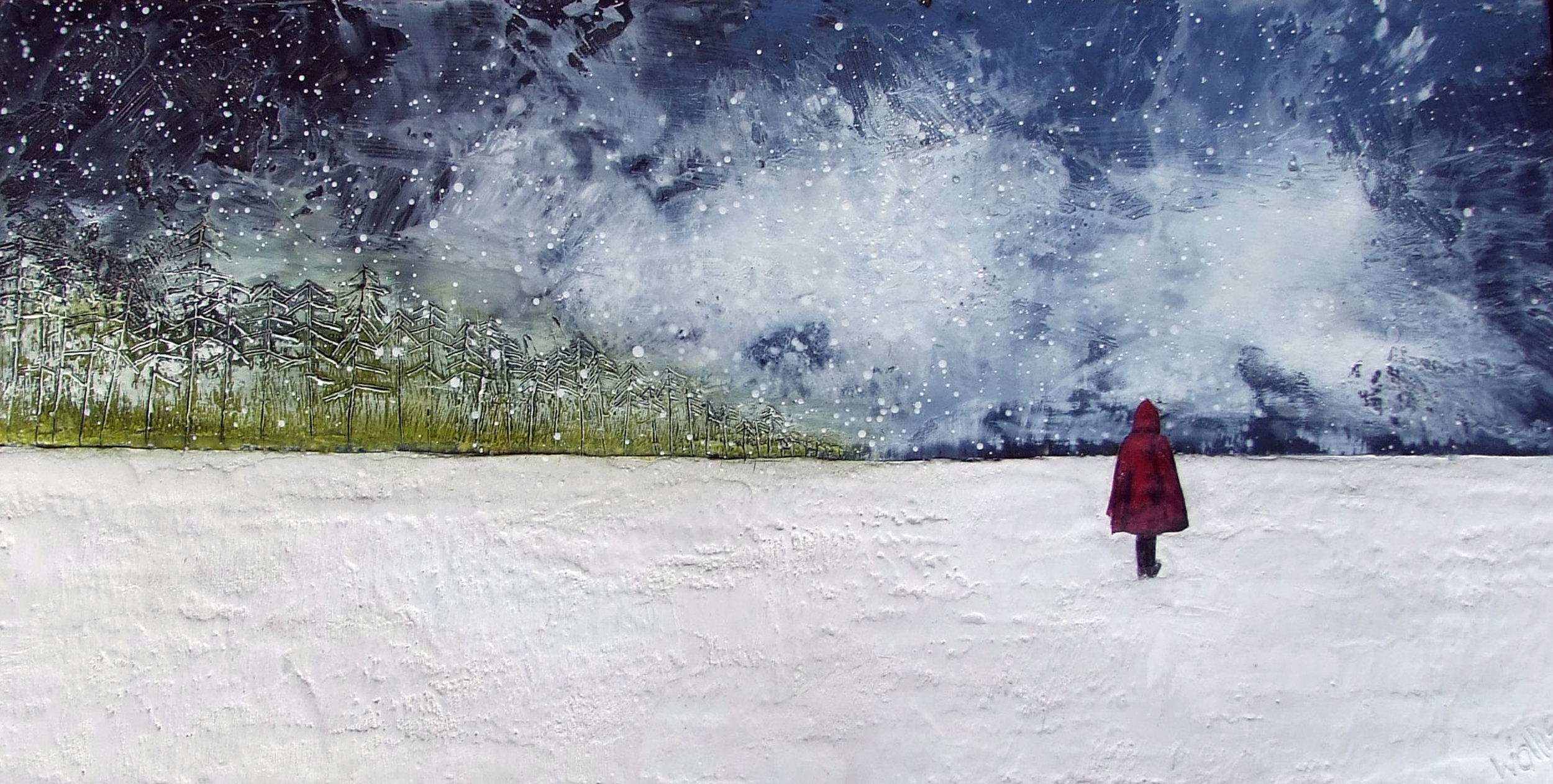 """reflecting 36""""x18""""  SOLD"""