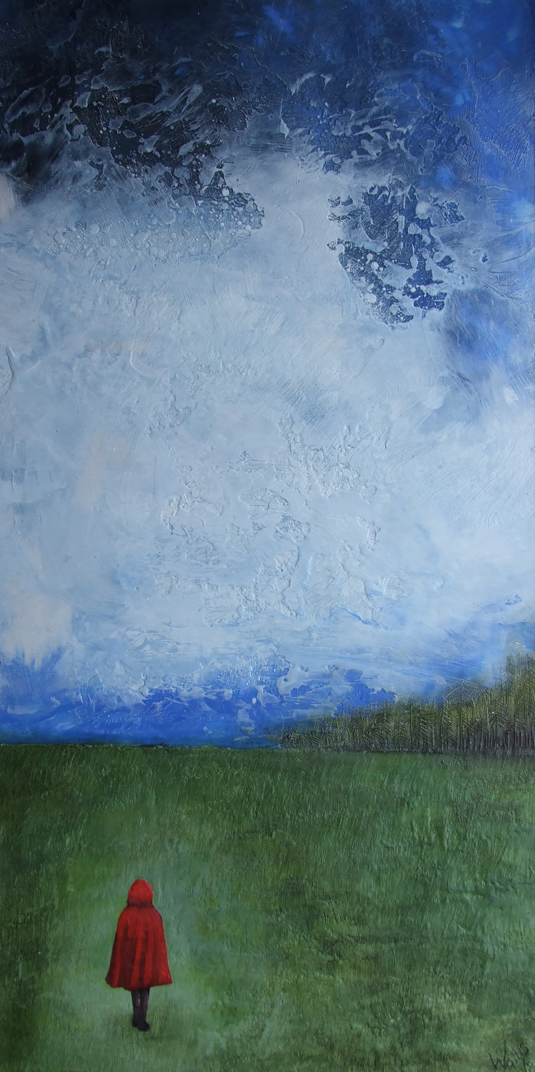 """the beginning 24""""x48""""  SOLD"""