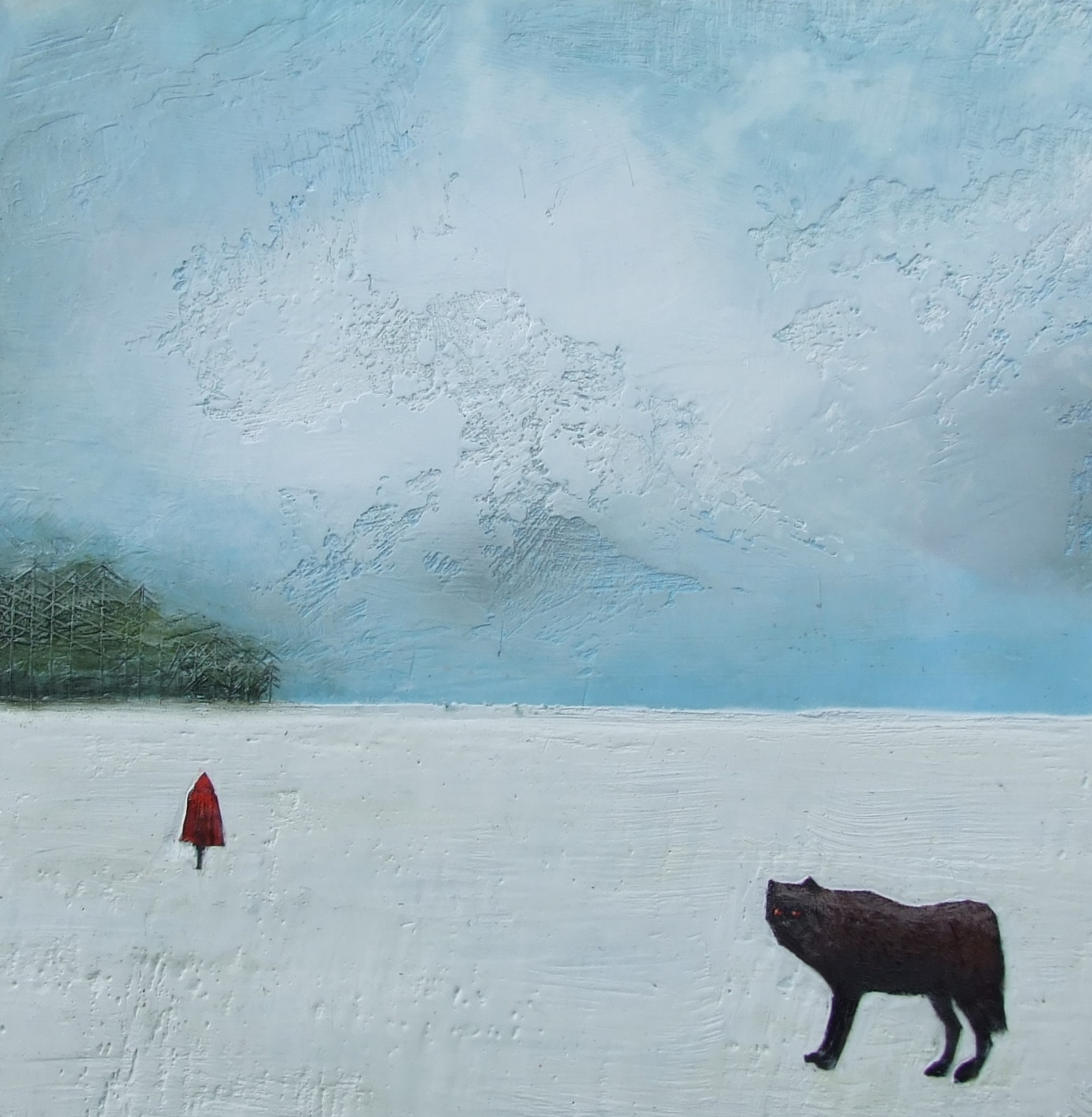 """The wolf 18""""x18""""  sold"""