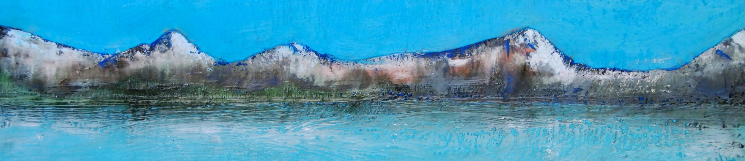 "Mountain Reflections 24""x6"""