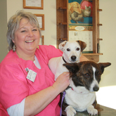 Jennifer - Jennifer has worked for Presque Isle Animal Hospital since 2000. She lives with her husband in Bridgewater on a farm with dogs, cats, horses, goats, and chickens. Jen is also self-employed as a dog groomer. In her free time, she enjoys time with her family, horseback riding and spending time at her cabin.