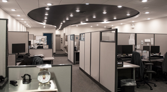 Interior of Clark Service Group's headquarters office at 2551 Horseshoe Pike in Lancaster, Pennsylvania.