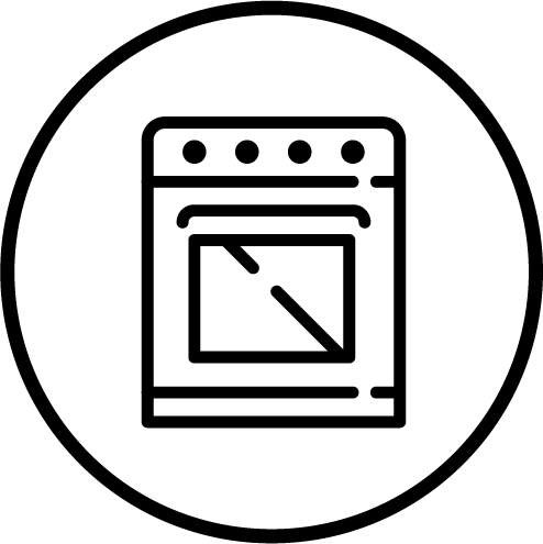 Commercial Oven Icon.