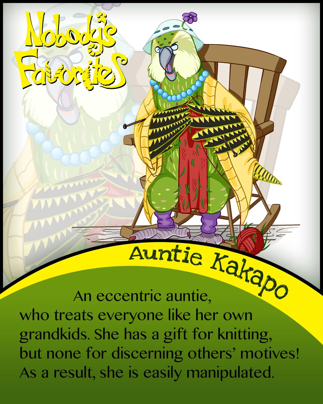 Auntie kakapo's Bio
