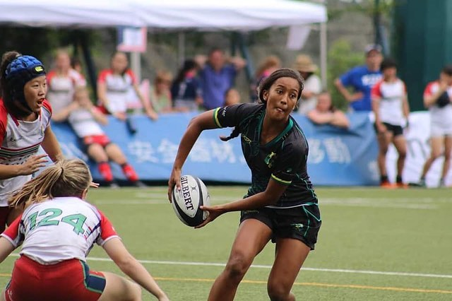 Congratulations to all of the girls who played at the All Girls International Rugby Sevens in Hong Kong this past weekend! A special mention to the @tribe7s girls who dominated to win the event!  Kit looked on point 👌🏾 #UnleashInspiration @agir7s #YTG #YeahTheGirls