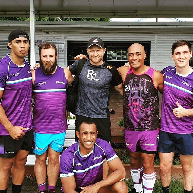 Real men wear purple @riversiderebelsrugbyunionclub #UnleashYourColours