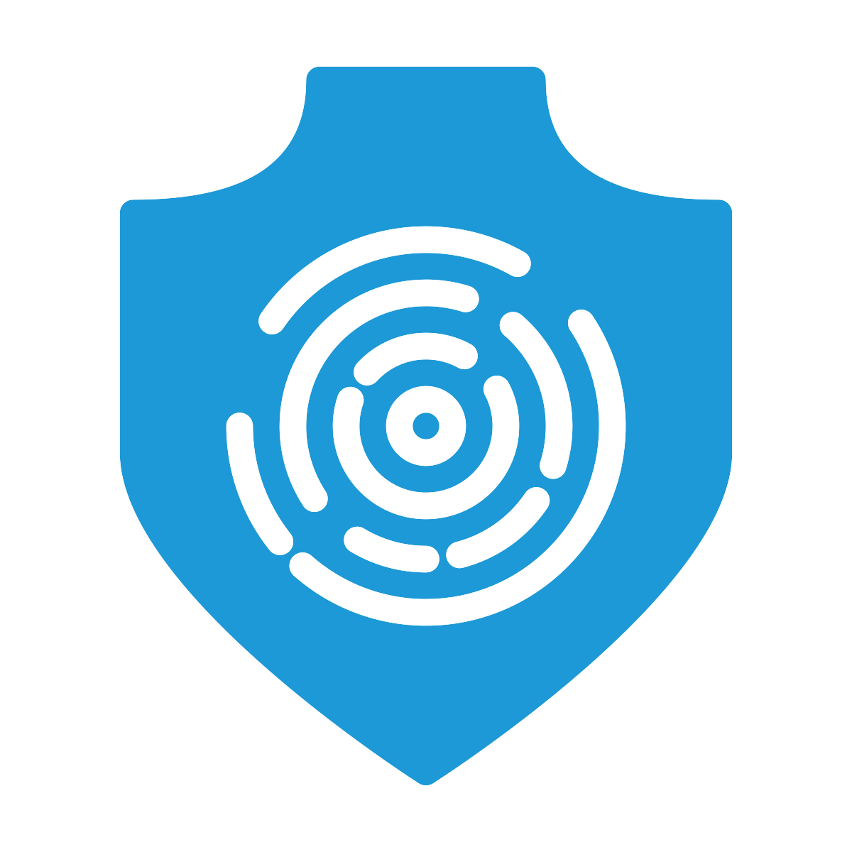 Security Shield With Fingerprint