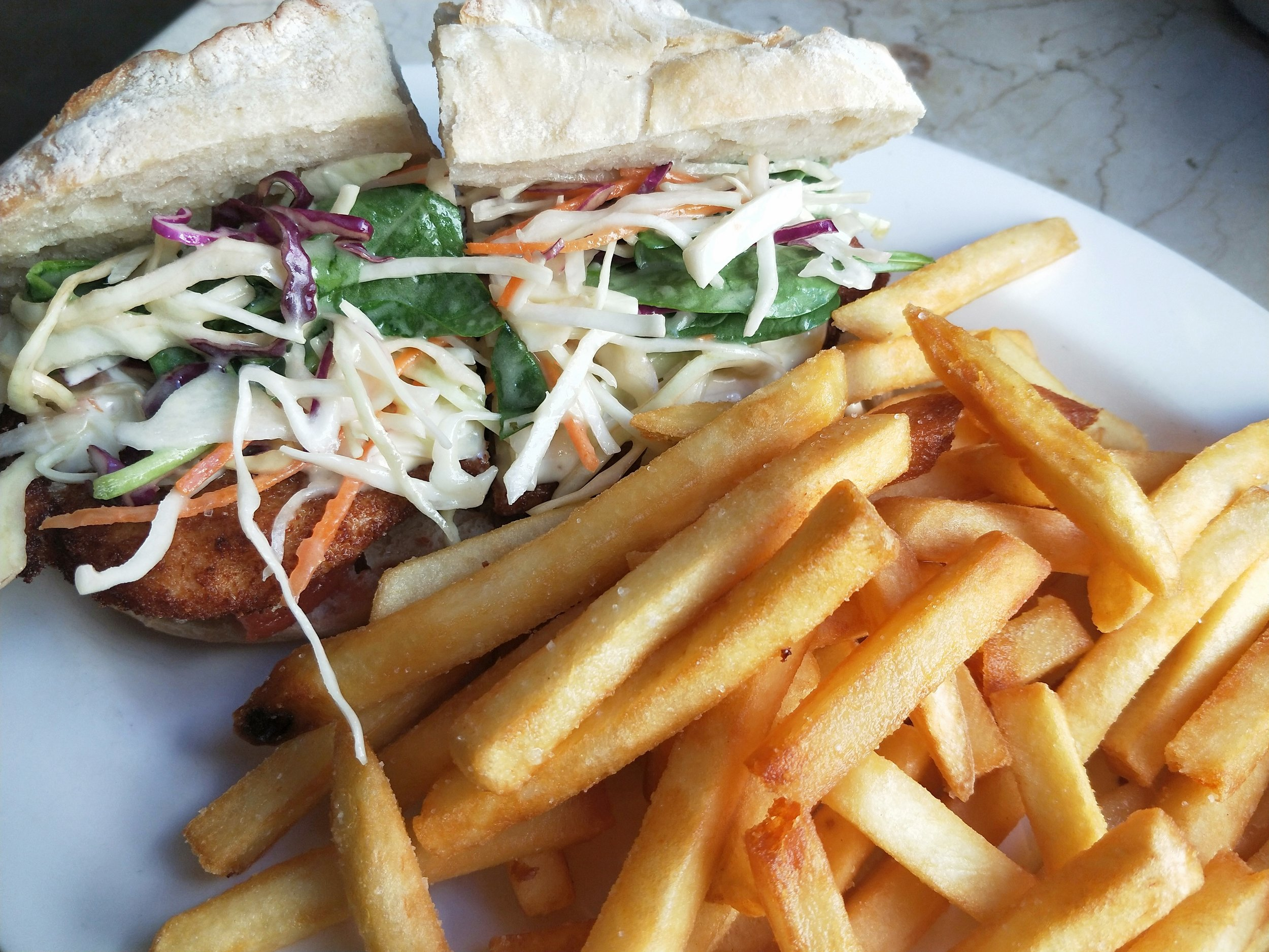Chicken and Slaw Roll w/ Chips