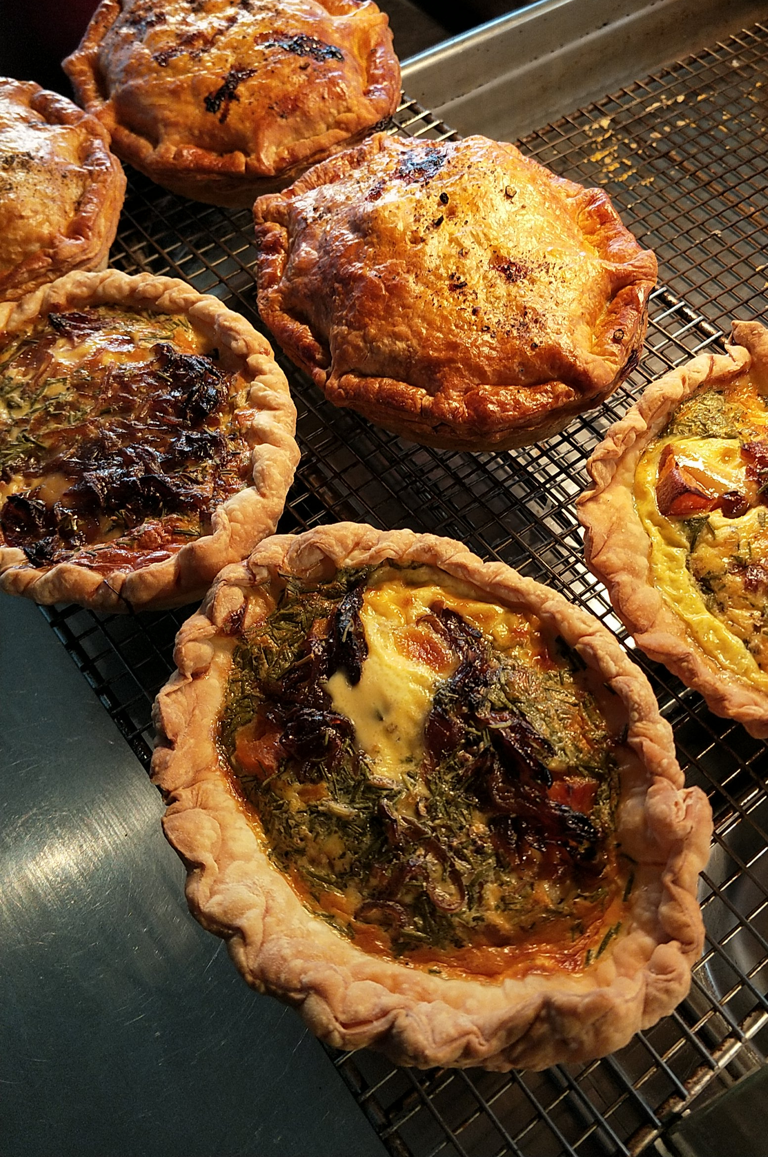 Chicken & Vegetable Pies and Spring Vegetable and Feta Tarts