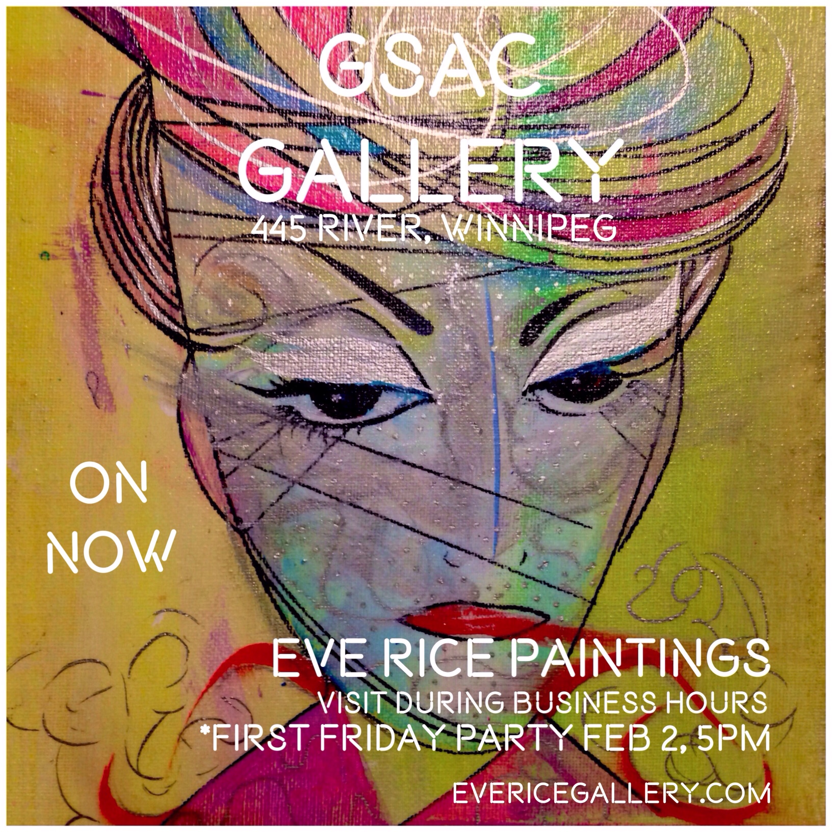 ON NOW until Feb 28/18 at Gas Station Arts Center - opening party, first friday Feb 2/18