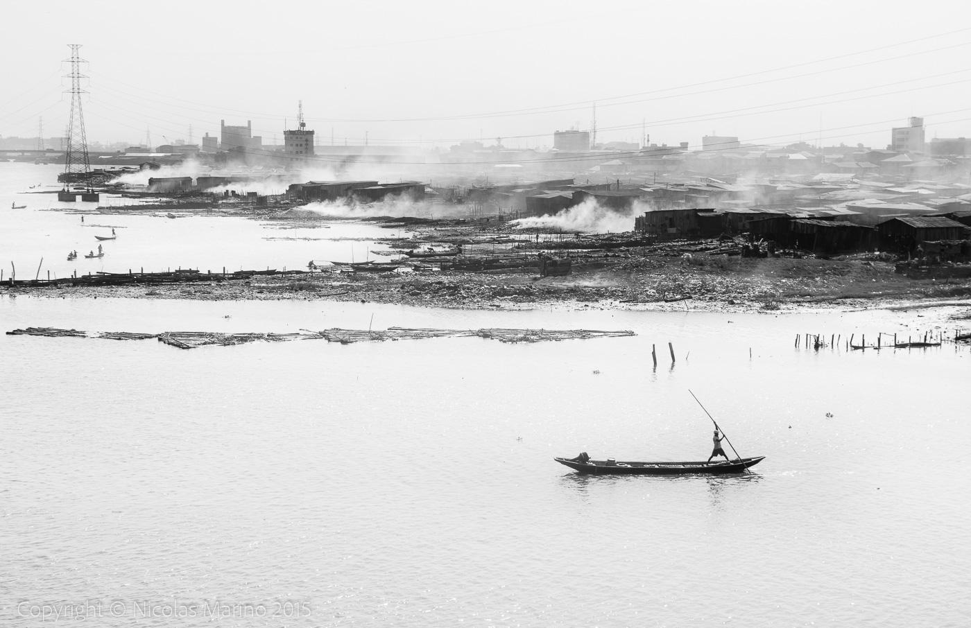 The floating slums of Lagos. Nigeria