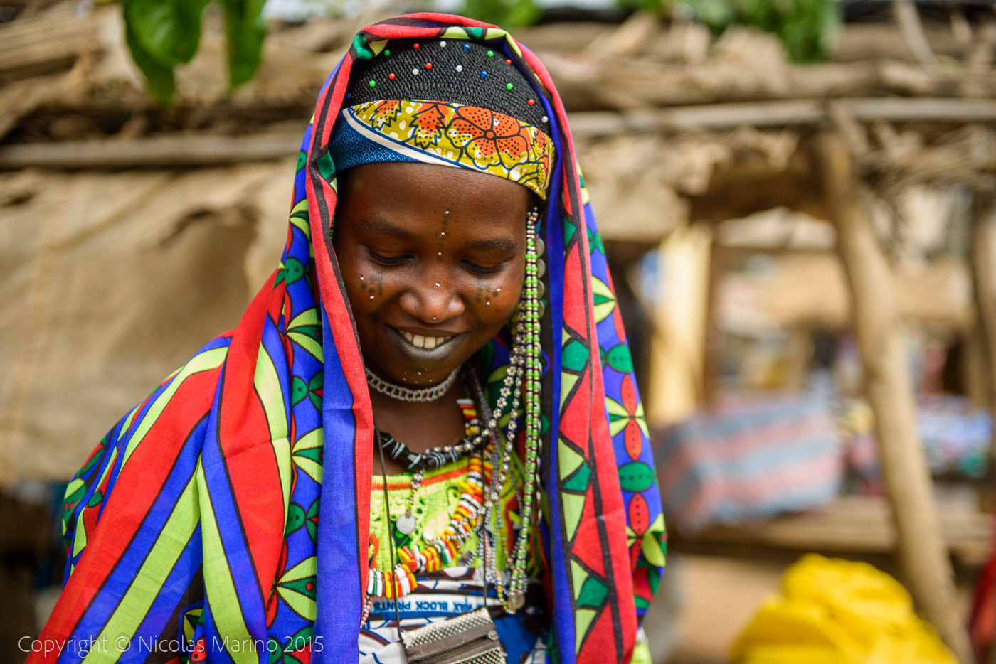 Fulani tribe women of northern Benin.