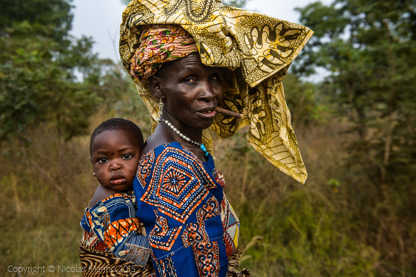 Tribeswomen of northern Benin.