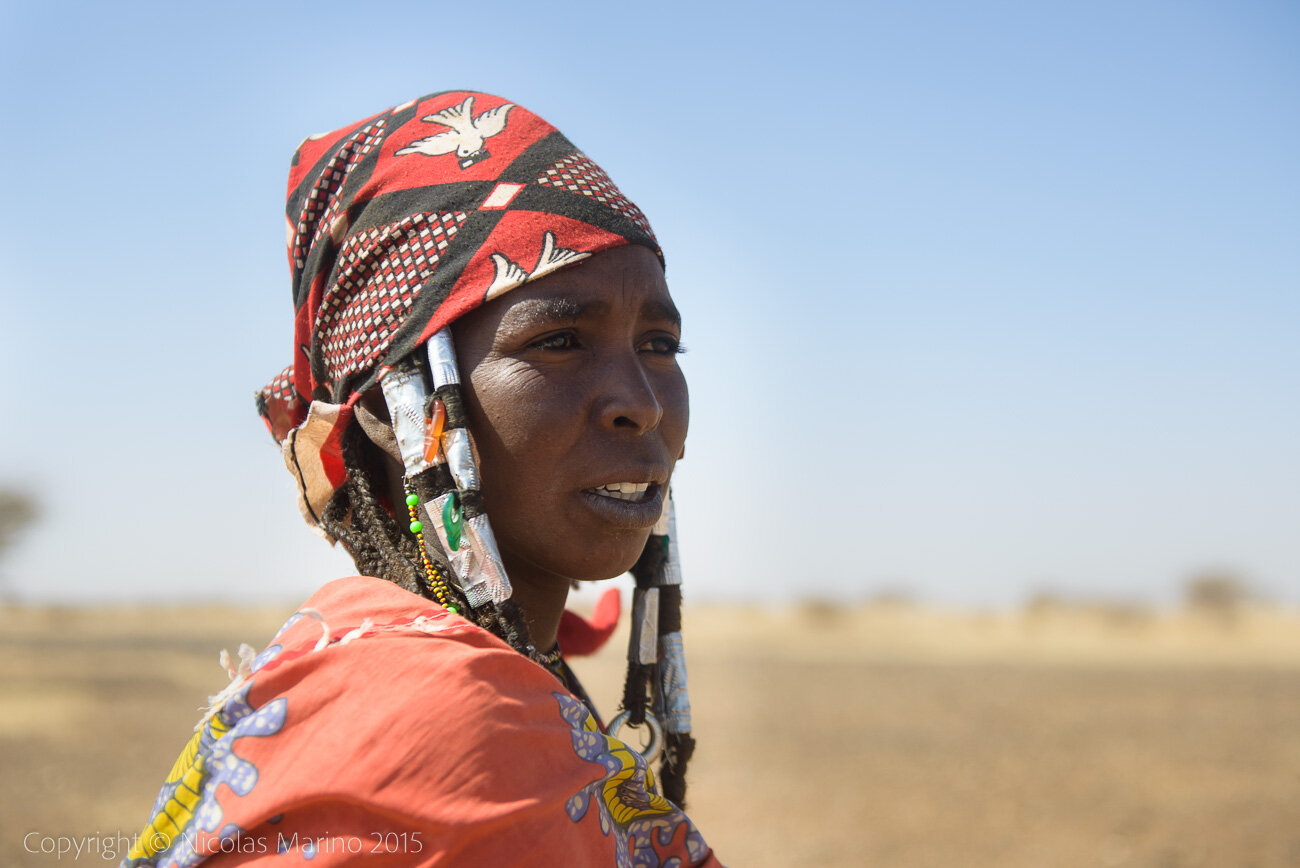 Fulani nomads of the of the Bel'ah group of the Sahel. Burkina Faso