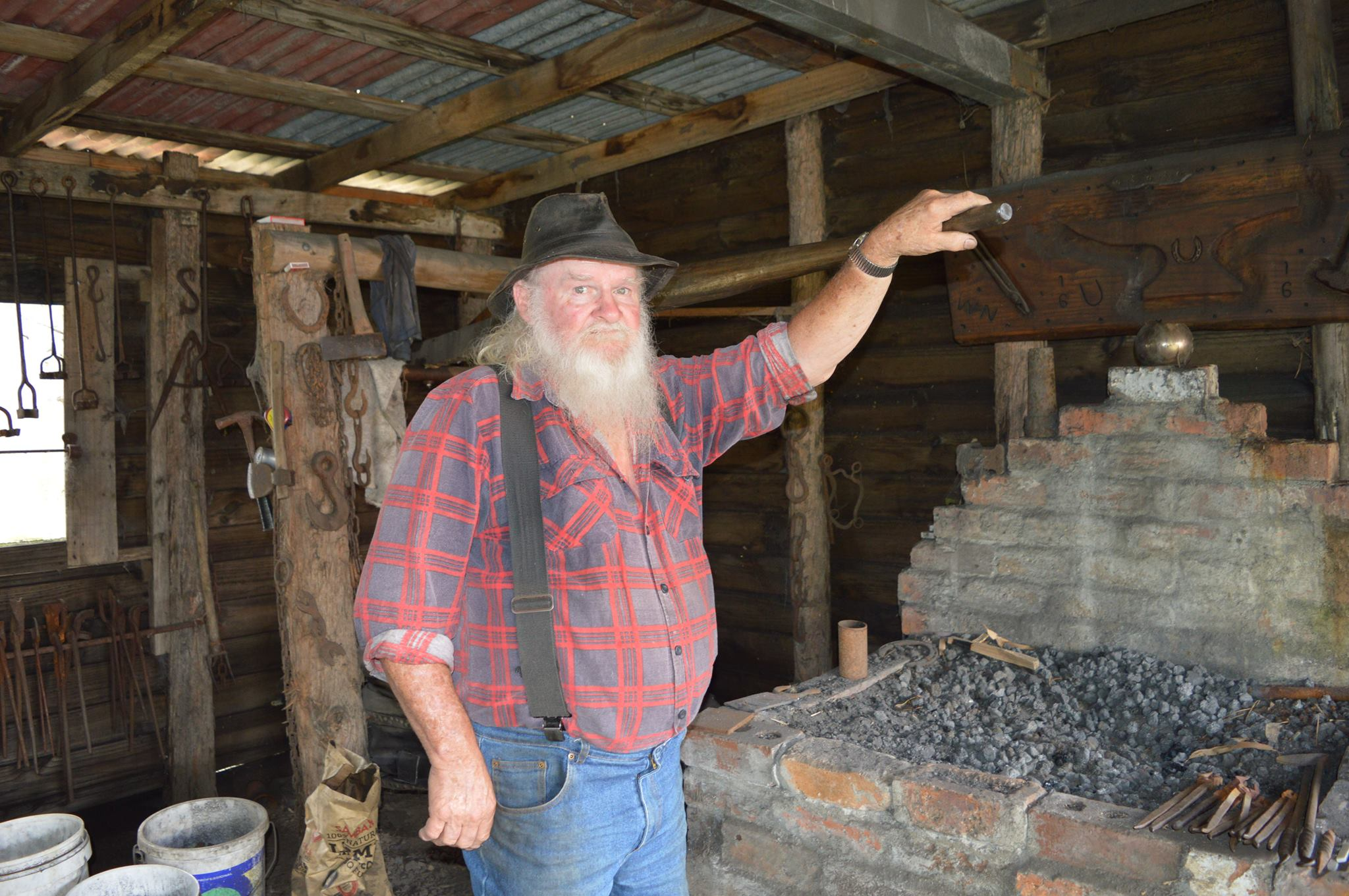 Local blacksmith Bill Cain.