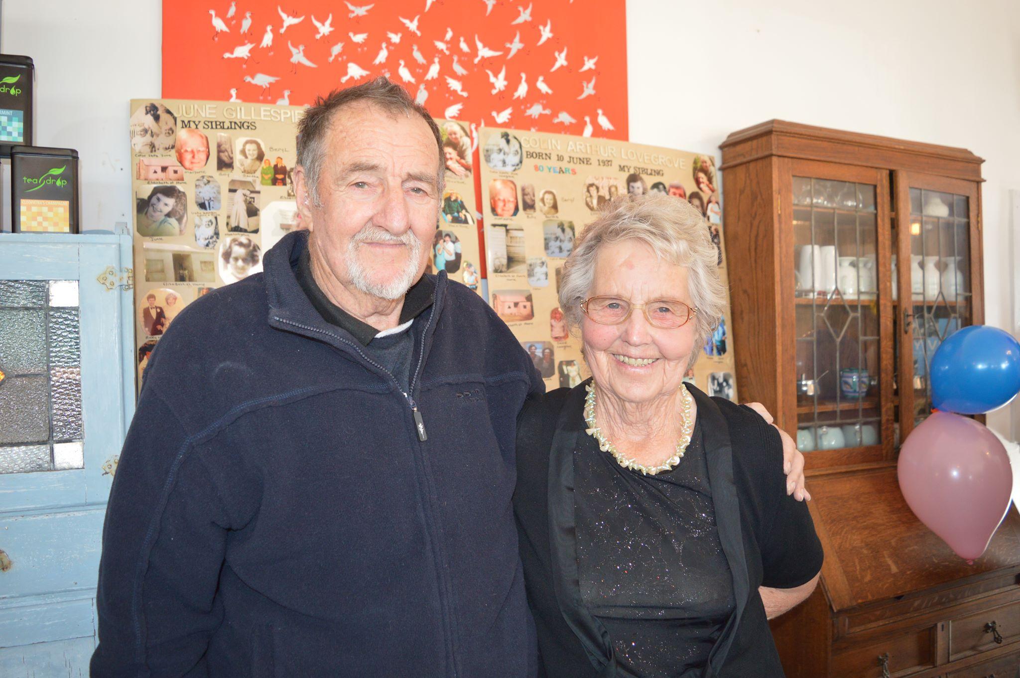 Colin Lovegrove and his twin sister June Gillespie.