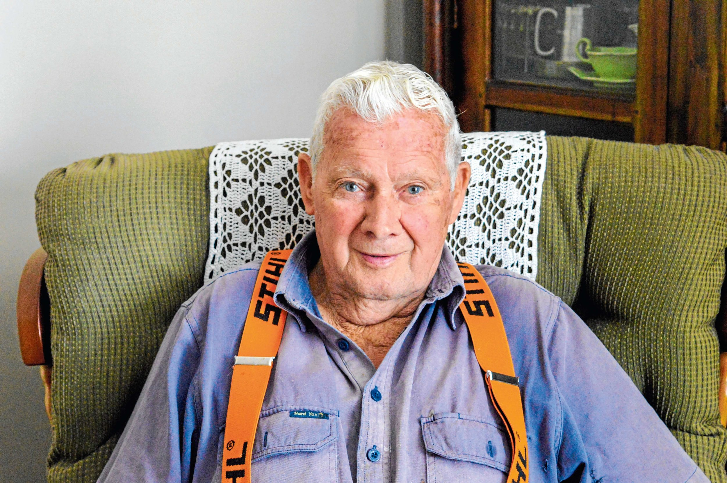 • Patrick Oldham has lived in Legerwood for the past 80 years, and says he's never thought about leaving.