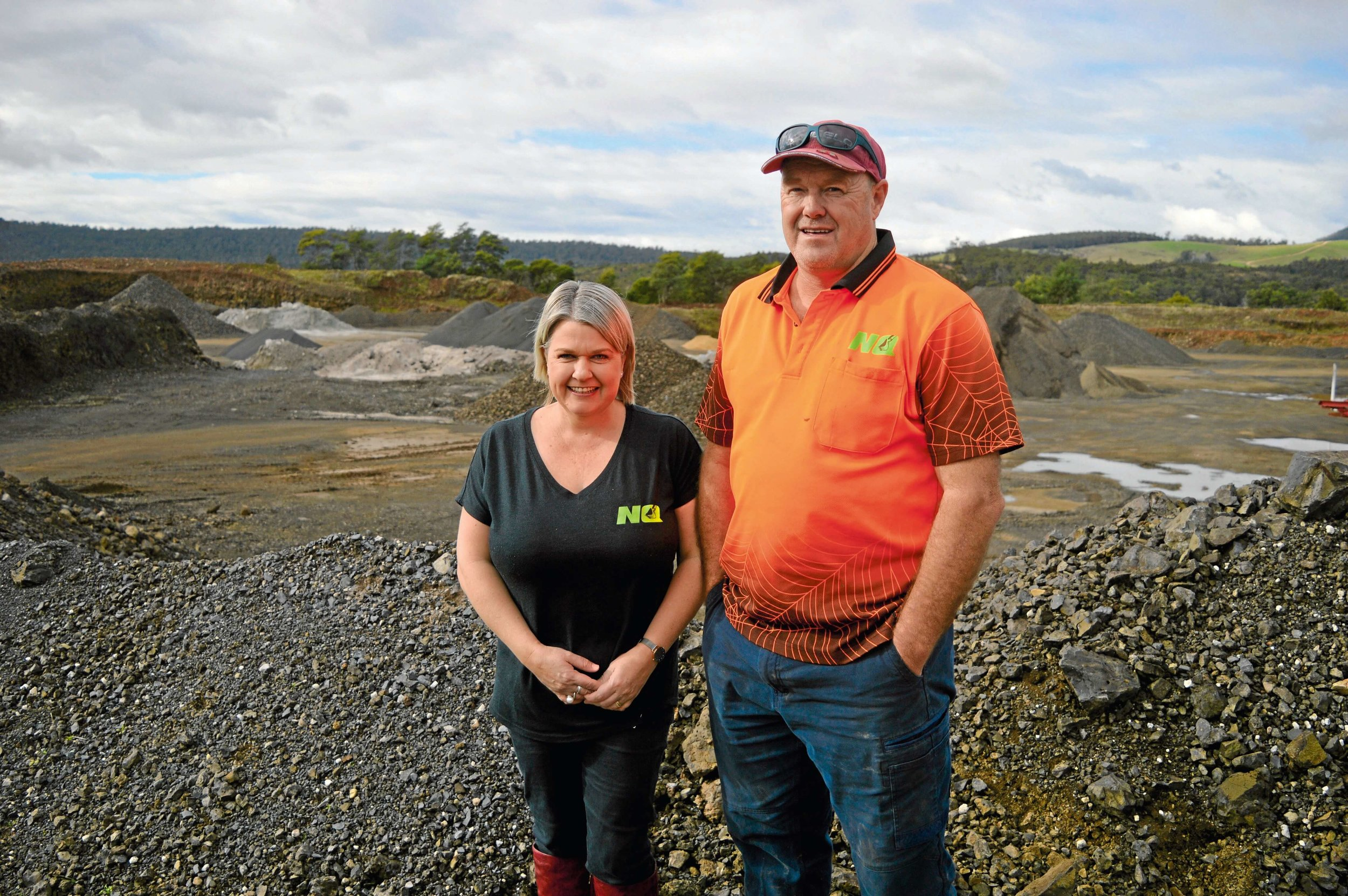 • Nabowla Quarries owners Tiana and Simon Fullbrook.