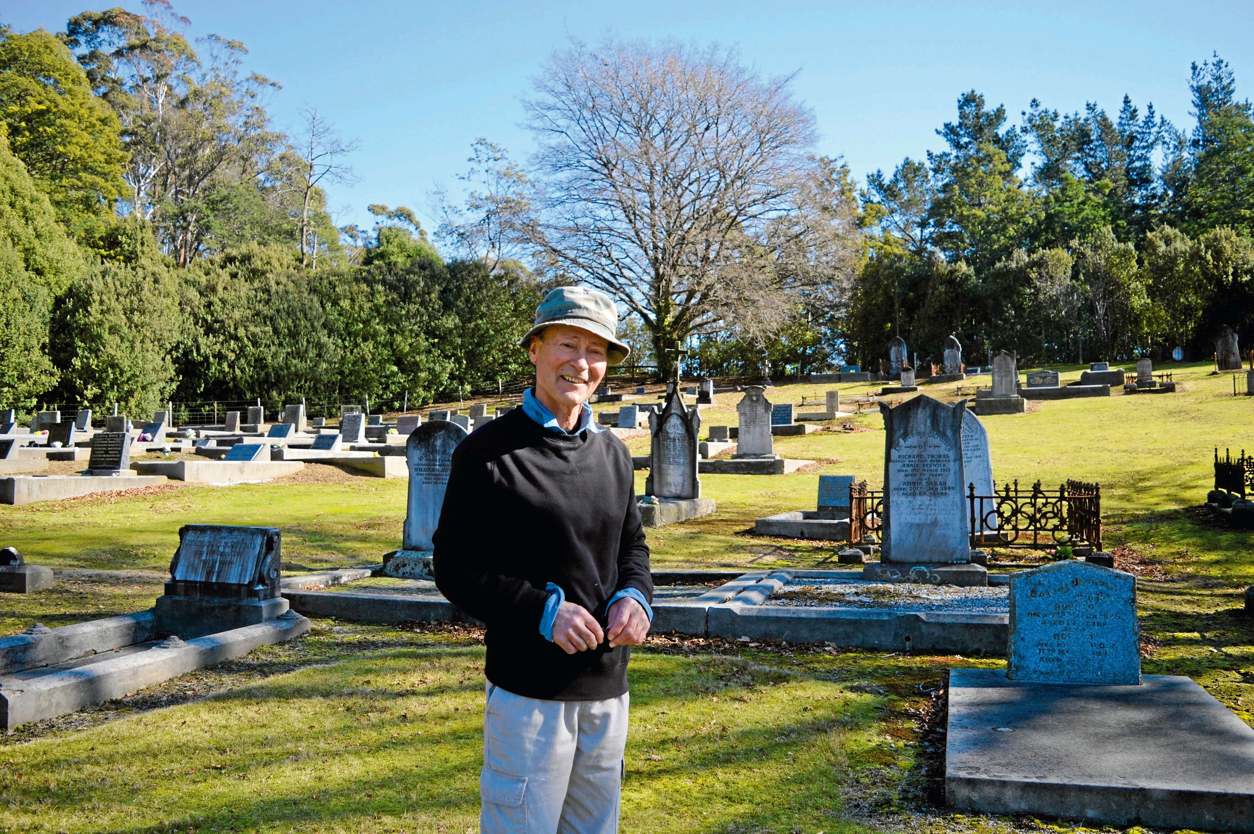 • Branxholm resident Trevor Smith has spent the last 14 years researching the burial history of the Branxholm and Moorina cemeteries.