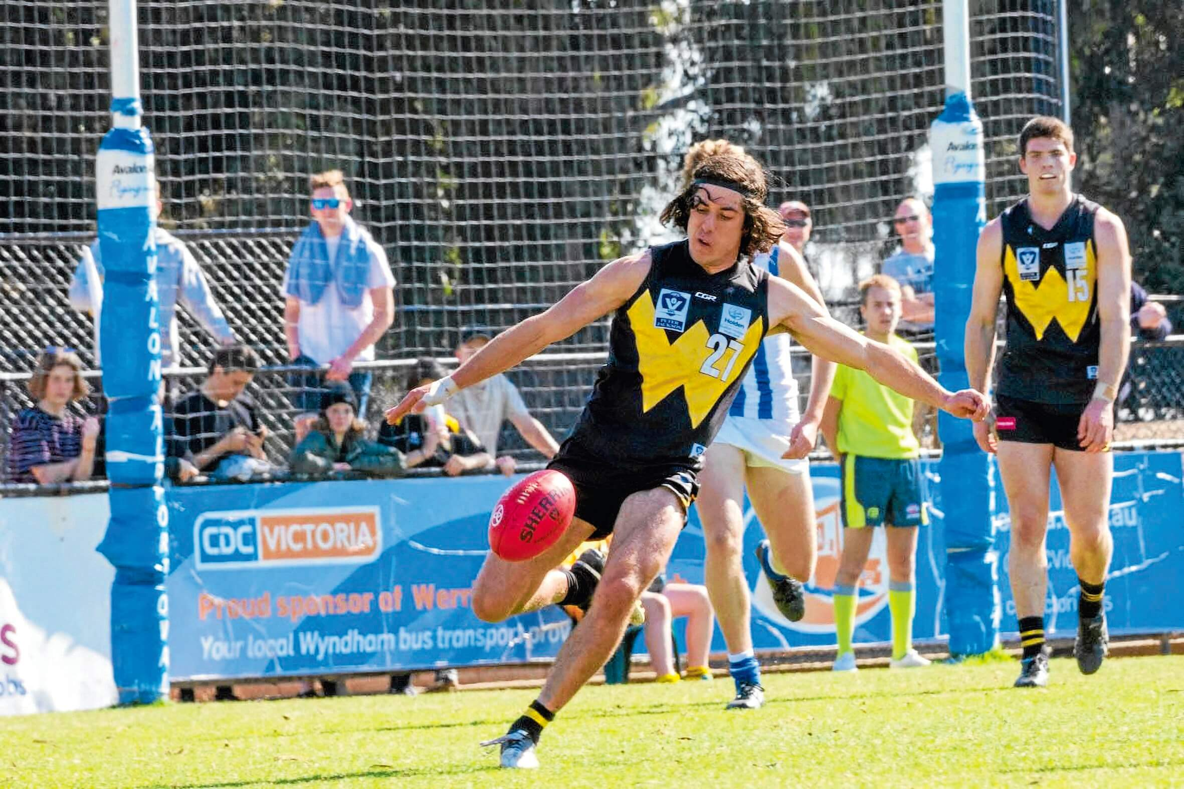 • Ethan Petterwood playing for Werribee in the VFL.