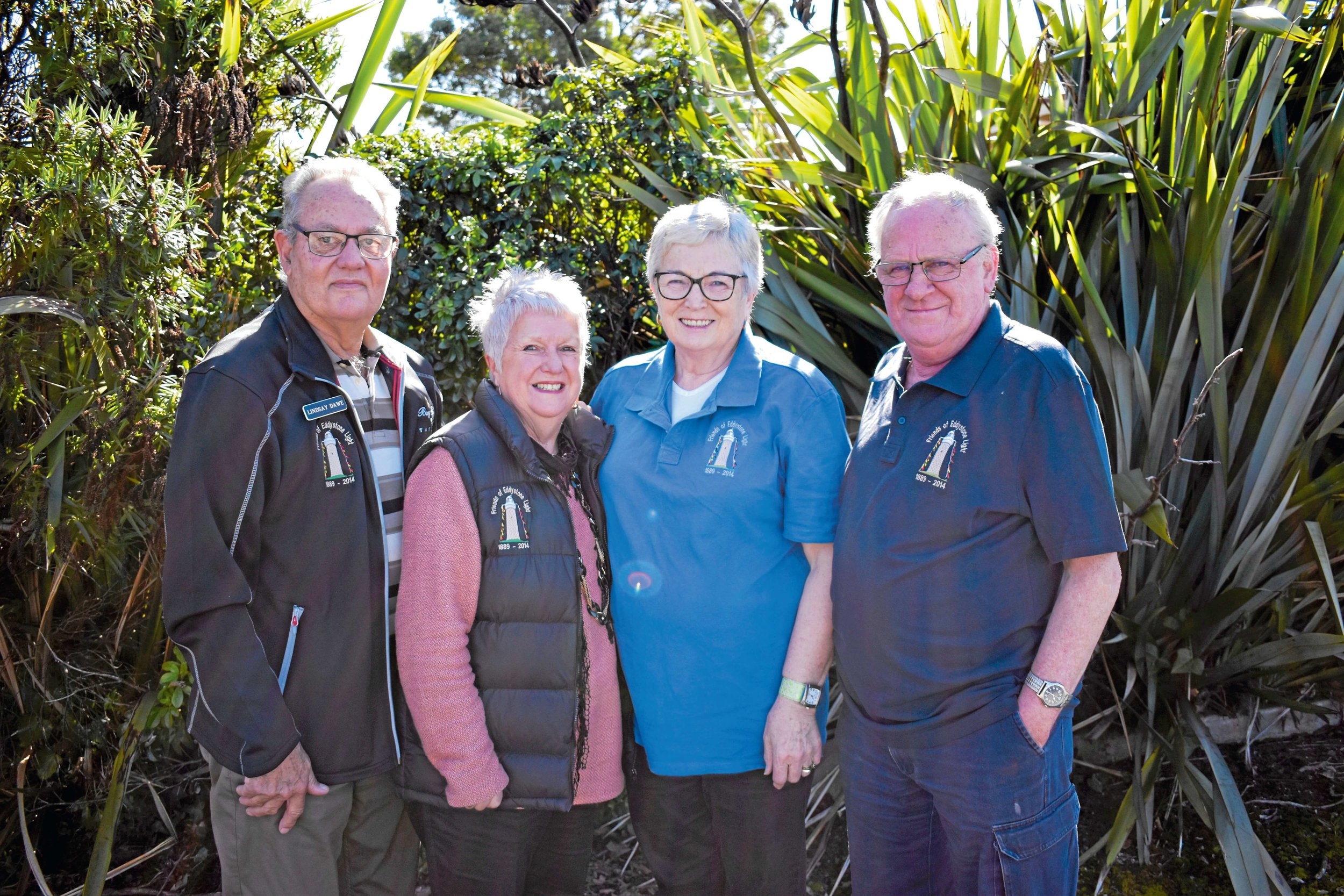 • Lindsay and Margi Dawe with Leonie and Bob Barrett join many other local people as committee members on the Friends of Eddystone Light working group.