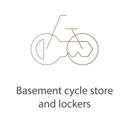 Basement cycle store and lockers