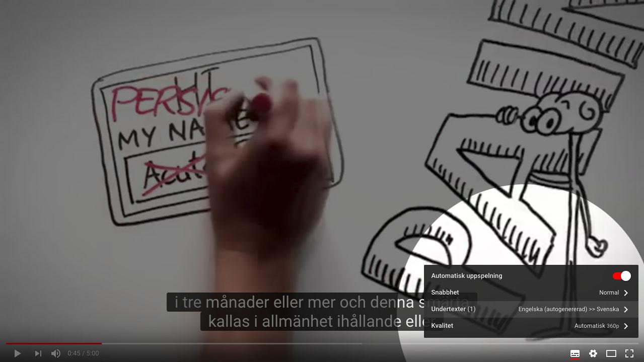 SVENSKA UNDERTEXTER - Klicka på den första ikonen nere till höger på videon för att få text, därefter på kugghjulet och välj svenska.
